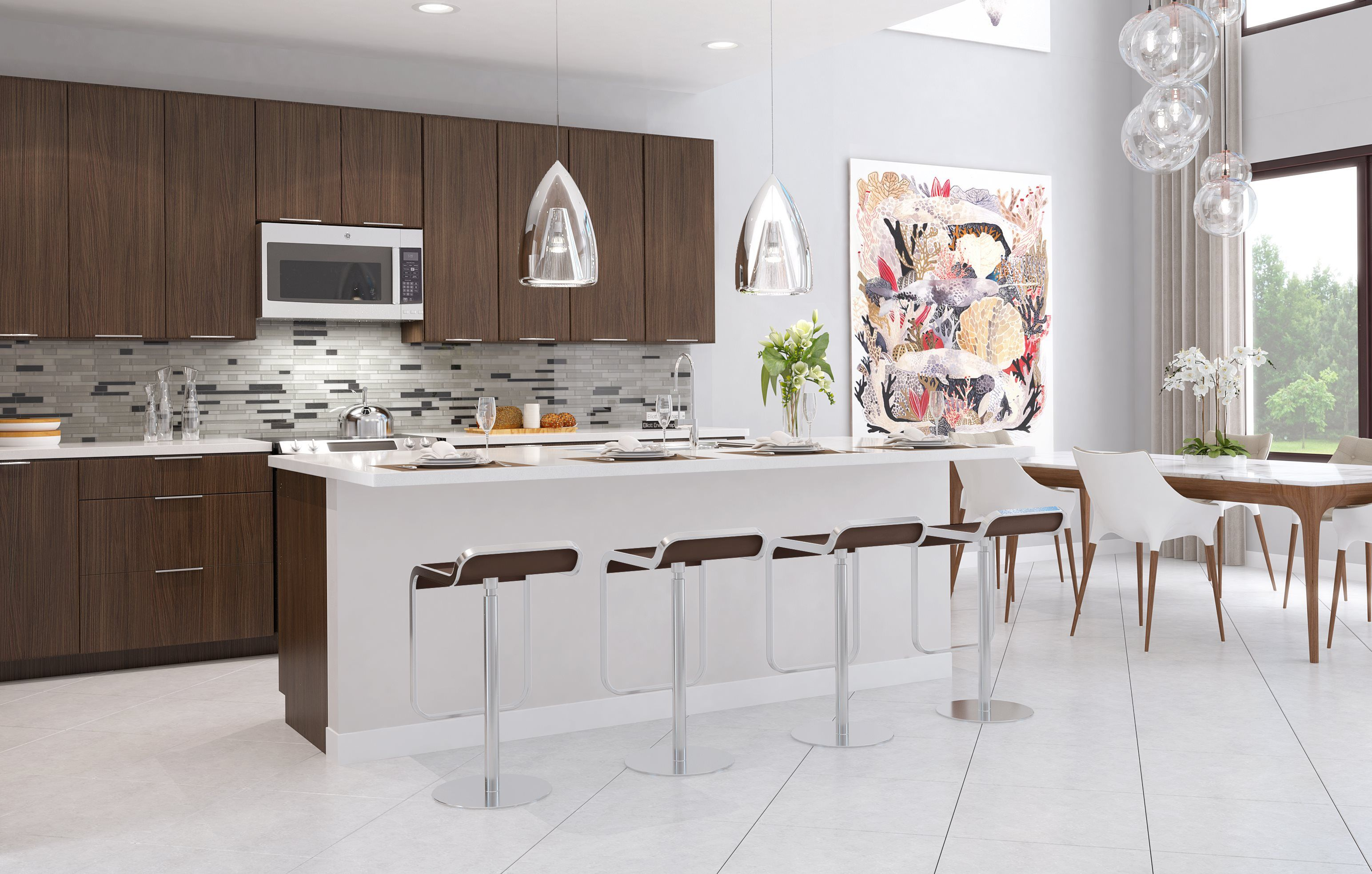 Kitchen featured in the MODEL MF By Lennar in Miami-Dade County, FL