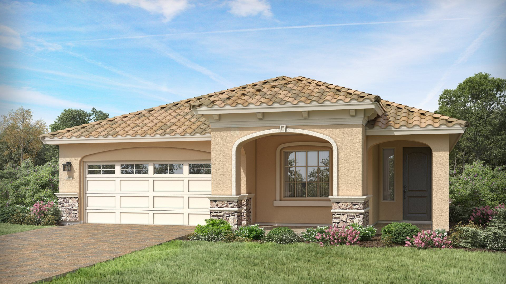 Exterior featured in the Armstrong Plan 4066 By Lennar in Phoenix-Mesa, AZ