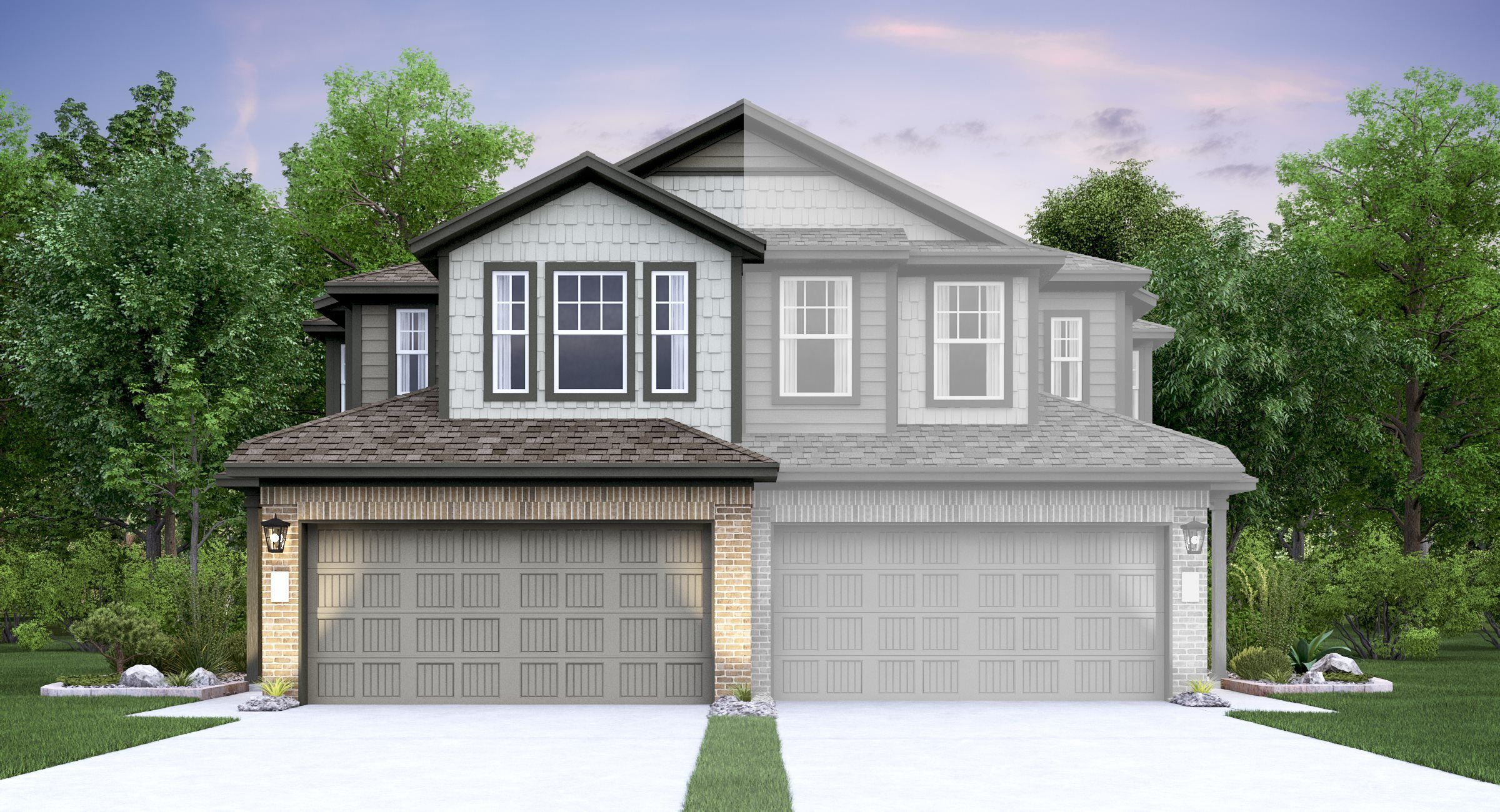 Exterior featured in the Belsay By Lennar in Austin, TX