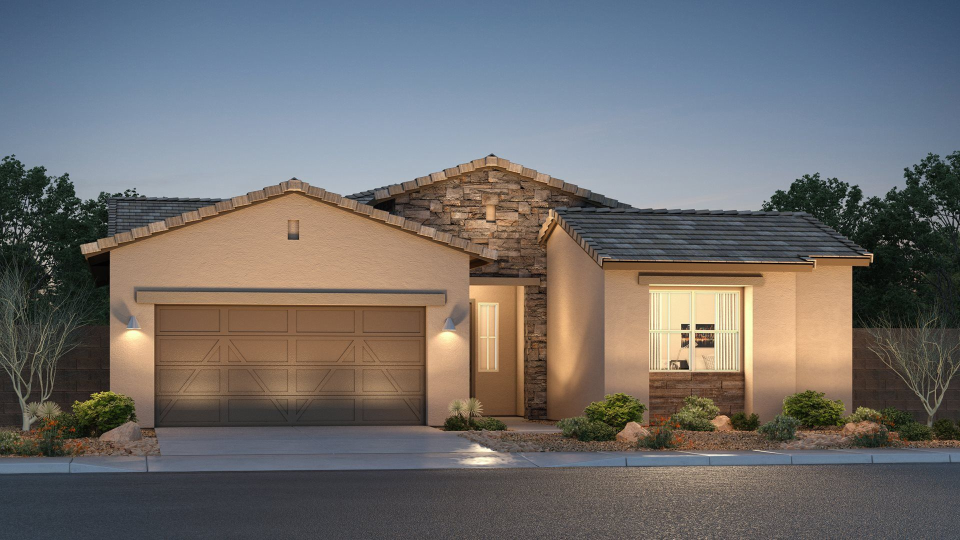 Exterior featured in the Ridgeline Plan 9580 By Lennar in Phoenix-Mesa, AZ