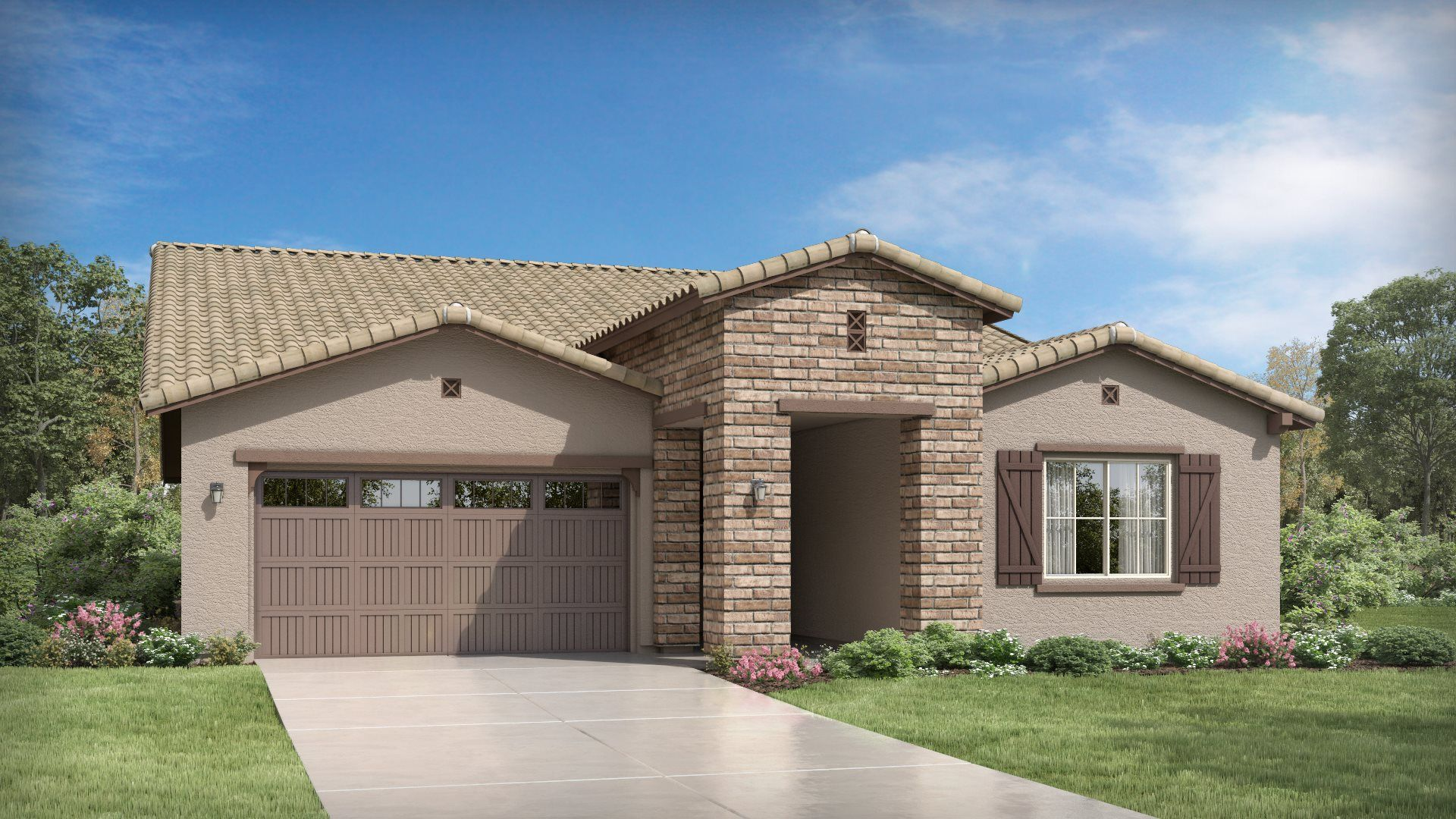 Exterior featured in the Bering Plan 4580 By Lennar in Phoenix-Mesa, AZ