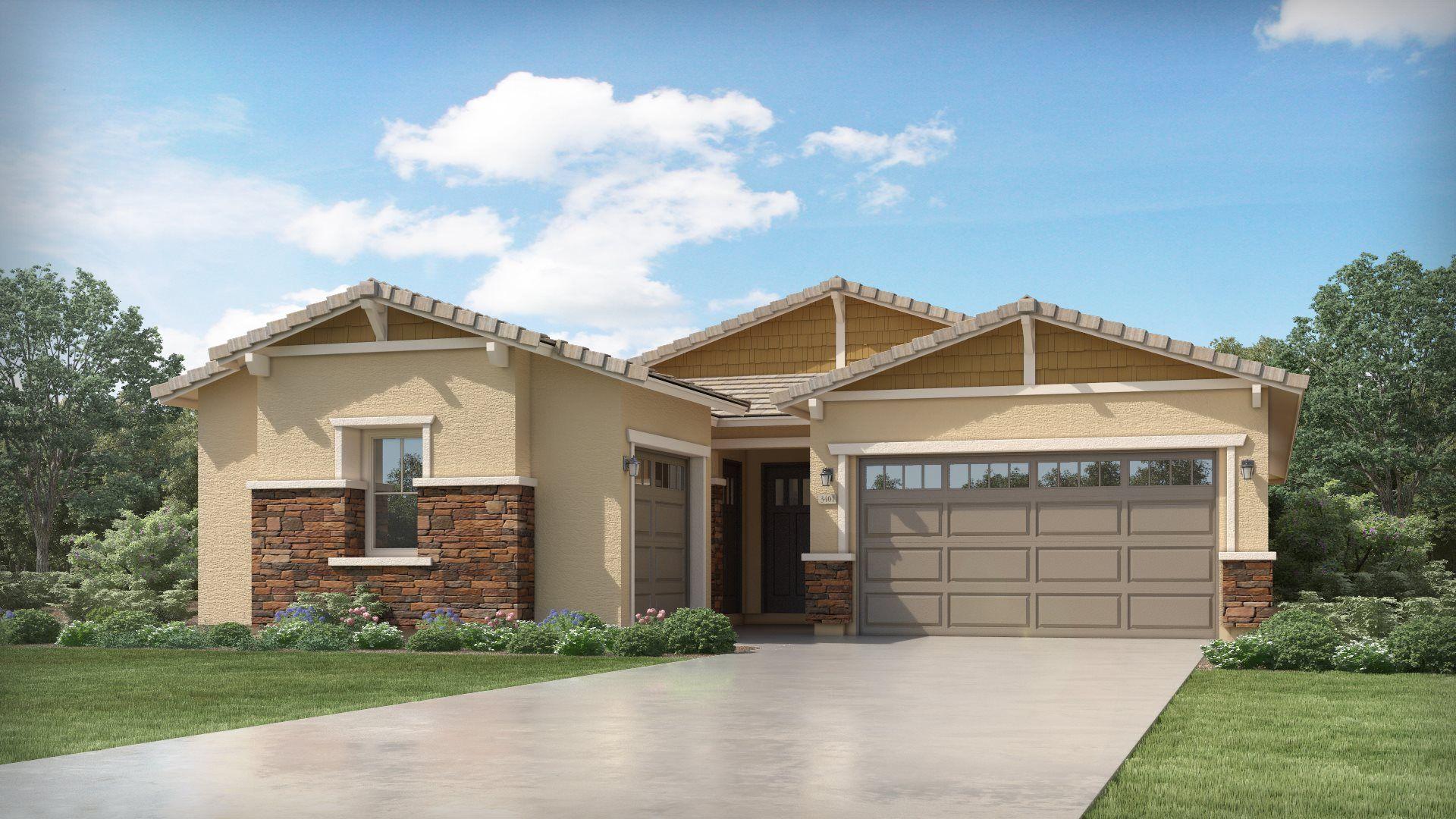 Exterior featured in the Trillium Plan 4585 By Lennar in Phoenix-Mesa, AZ