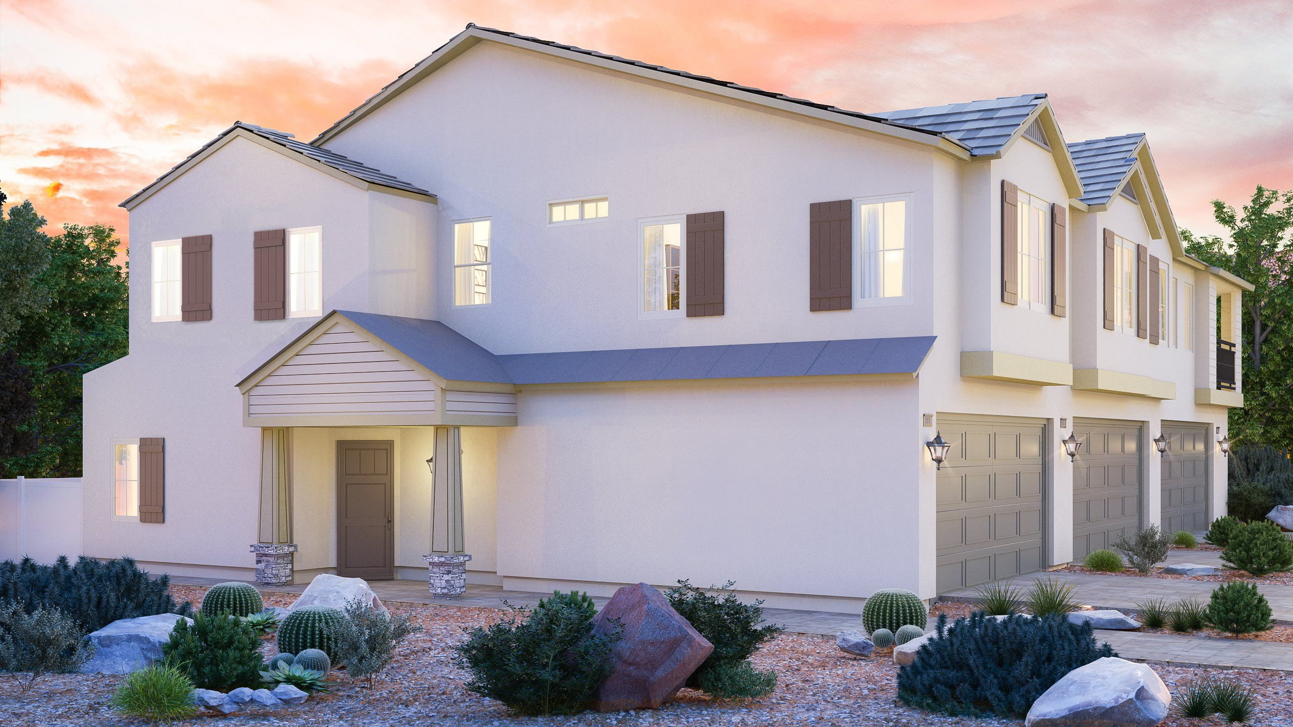 Exterior featured in the Saratoga X By Lennar in Las Vegas, NV