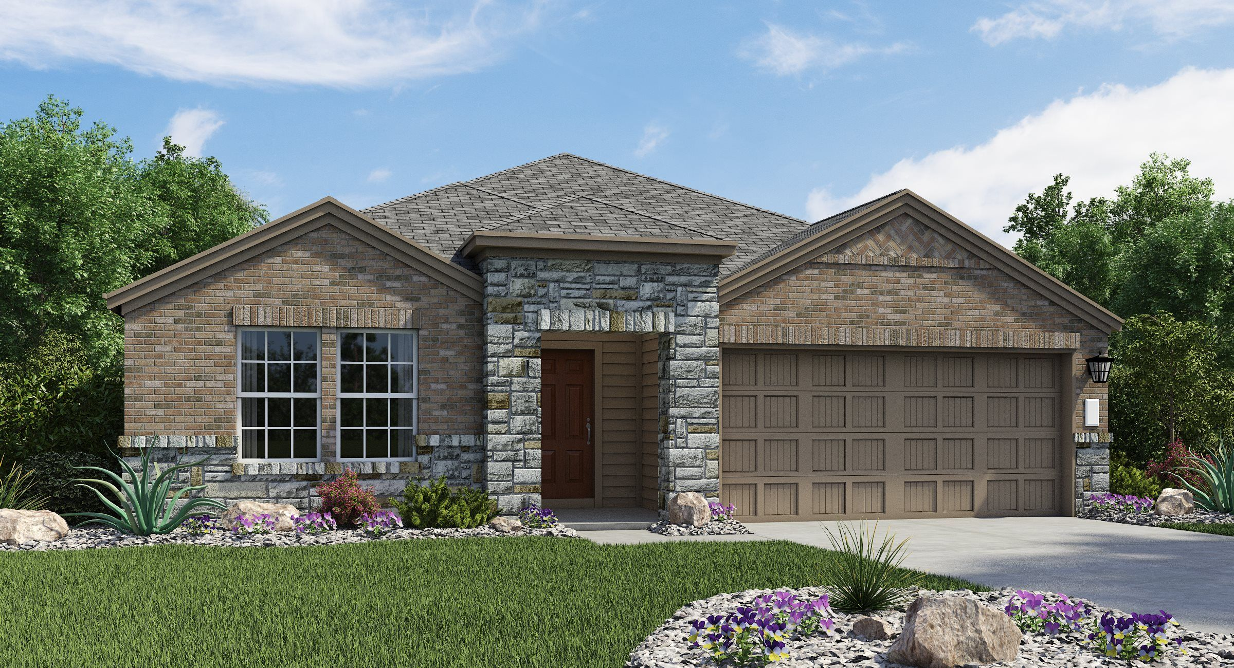 Exterior featured in the Langley By Lennar in San Antonio, TX
