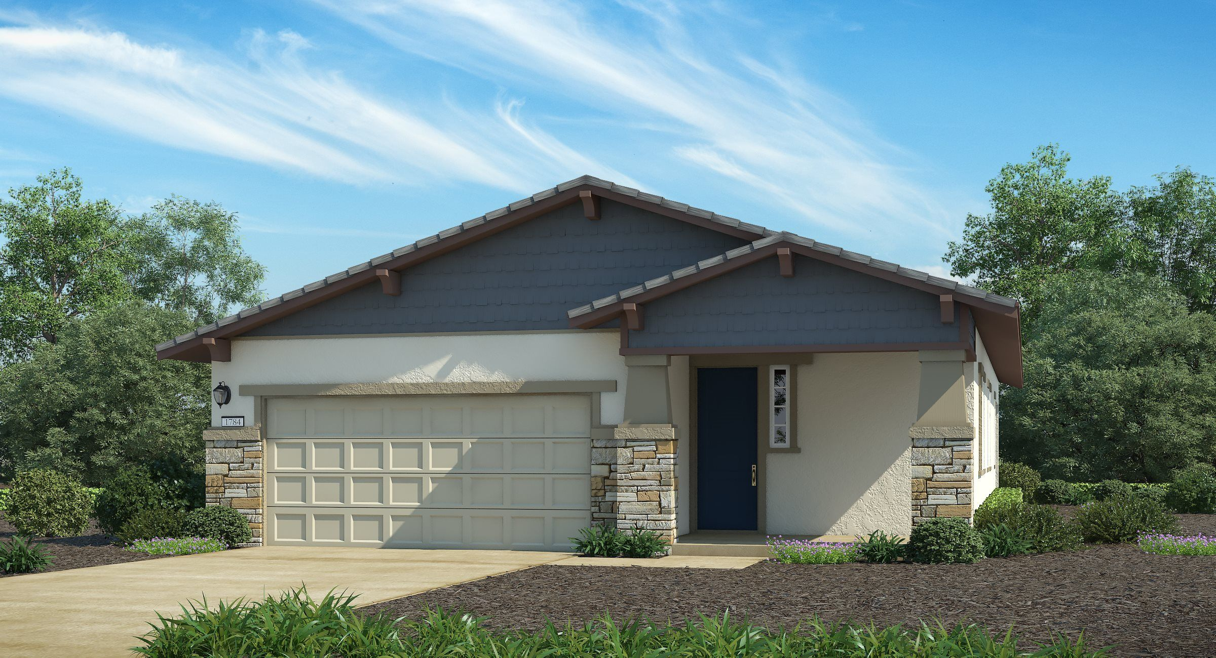 Exterior featured in The Diamond - Plan 1784 By Lennar in Sacramento, CA