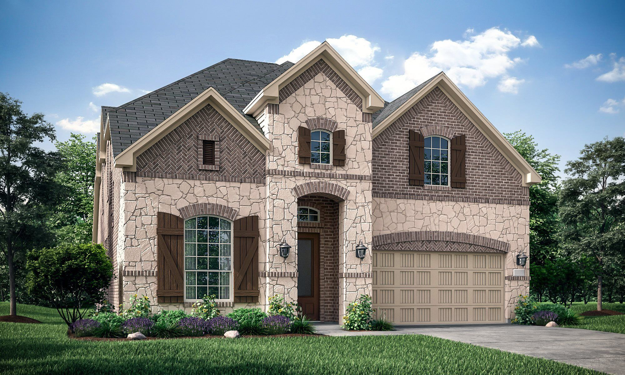 Exterior featured in the Somerville II By Lennar in Fort Worth, TX