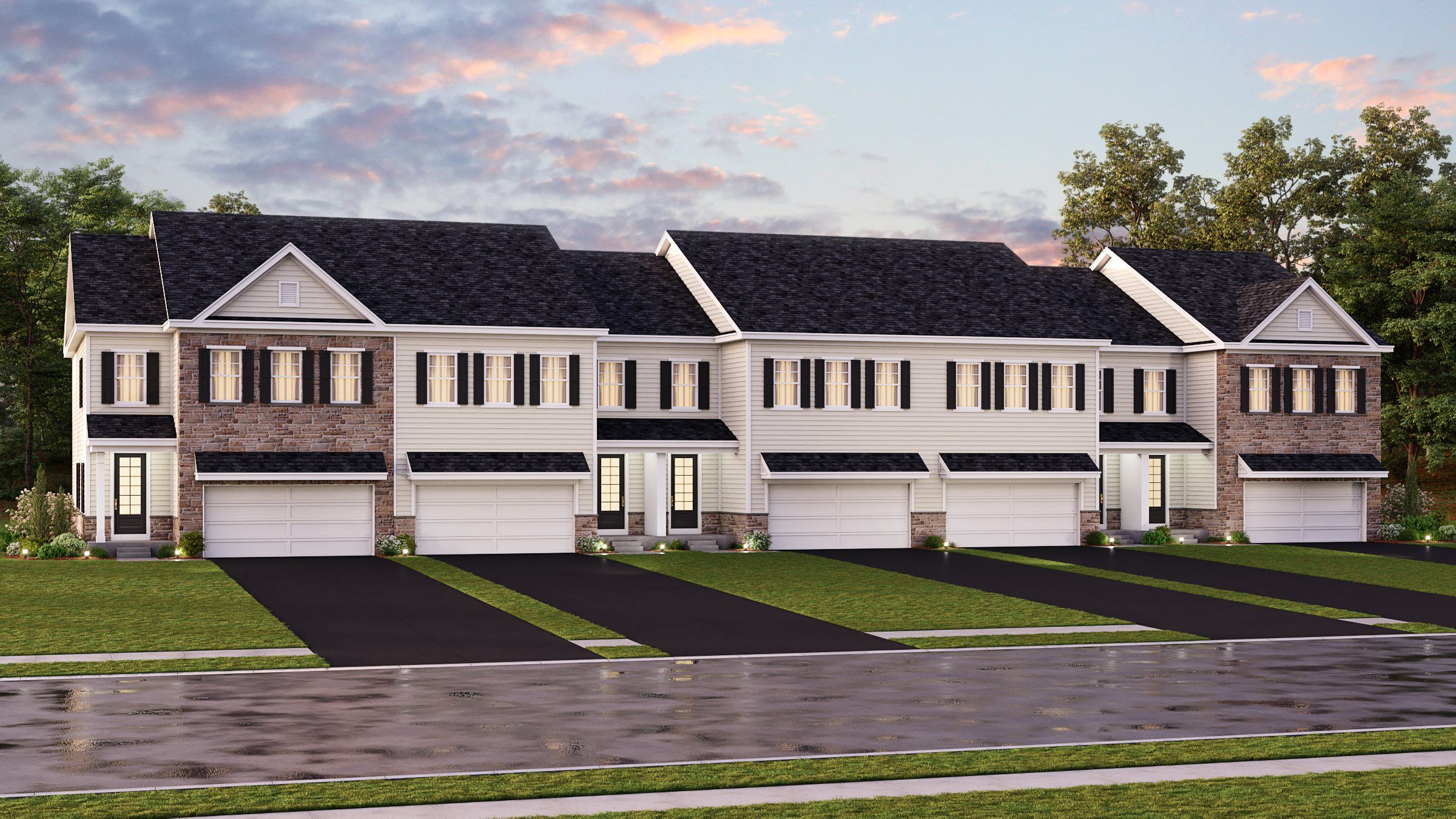 Exterior featured in the Monterey By Lennar in Morris County, NJ