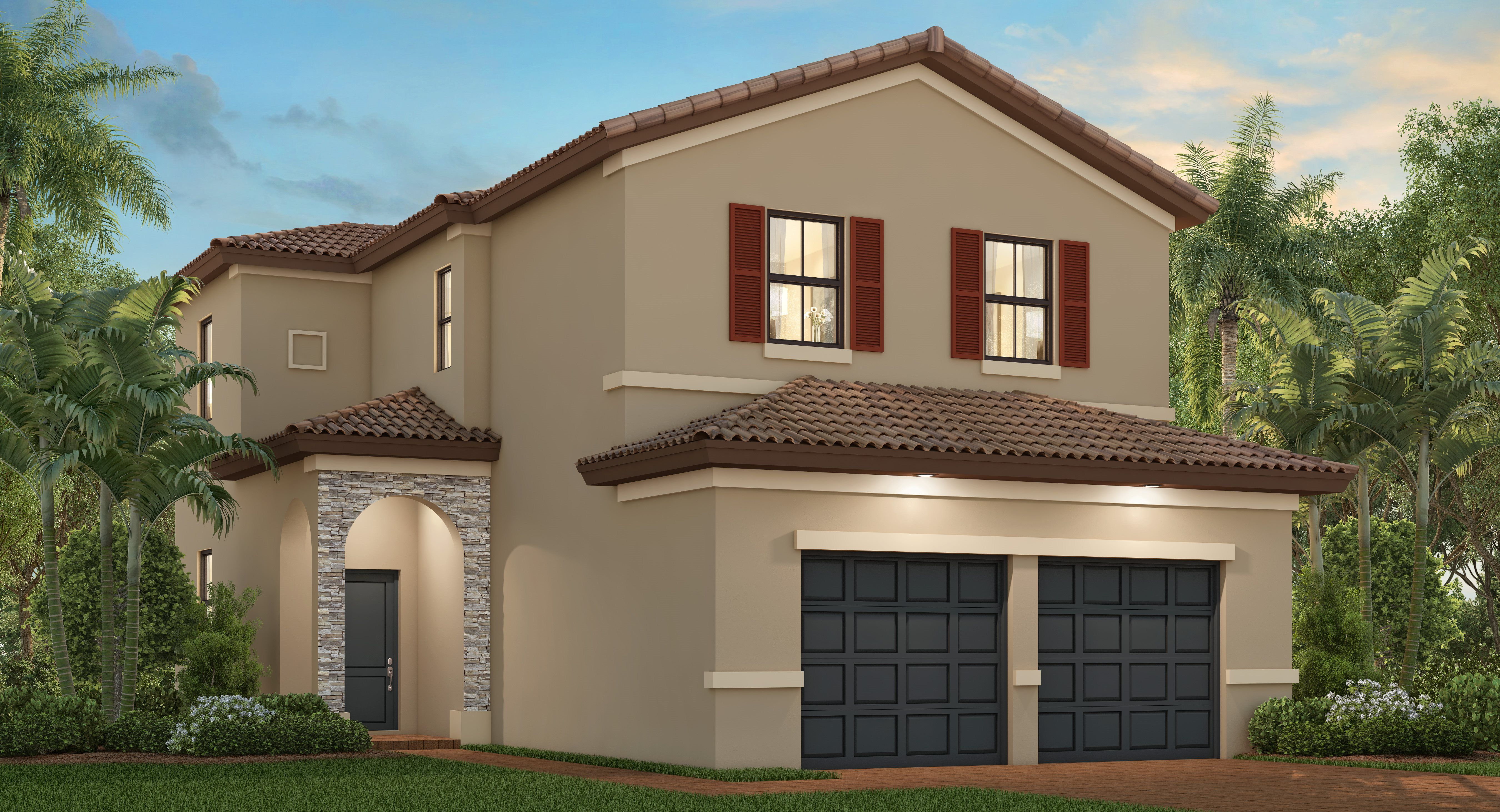Exterior featured in The Pasadena By Lennar in Miami-Dade County, FL