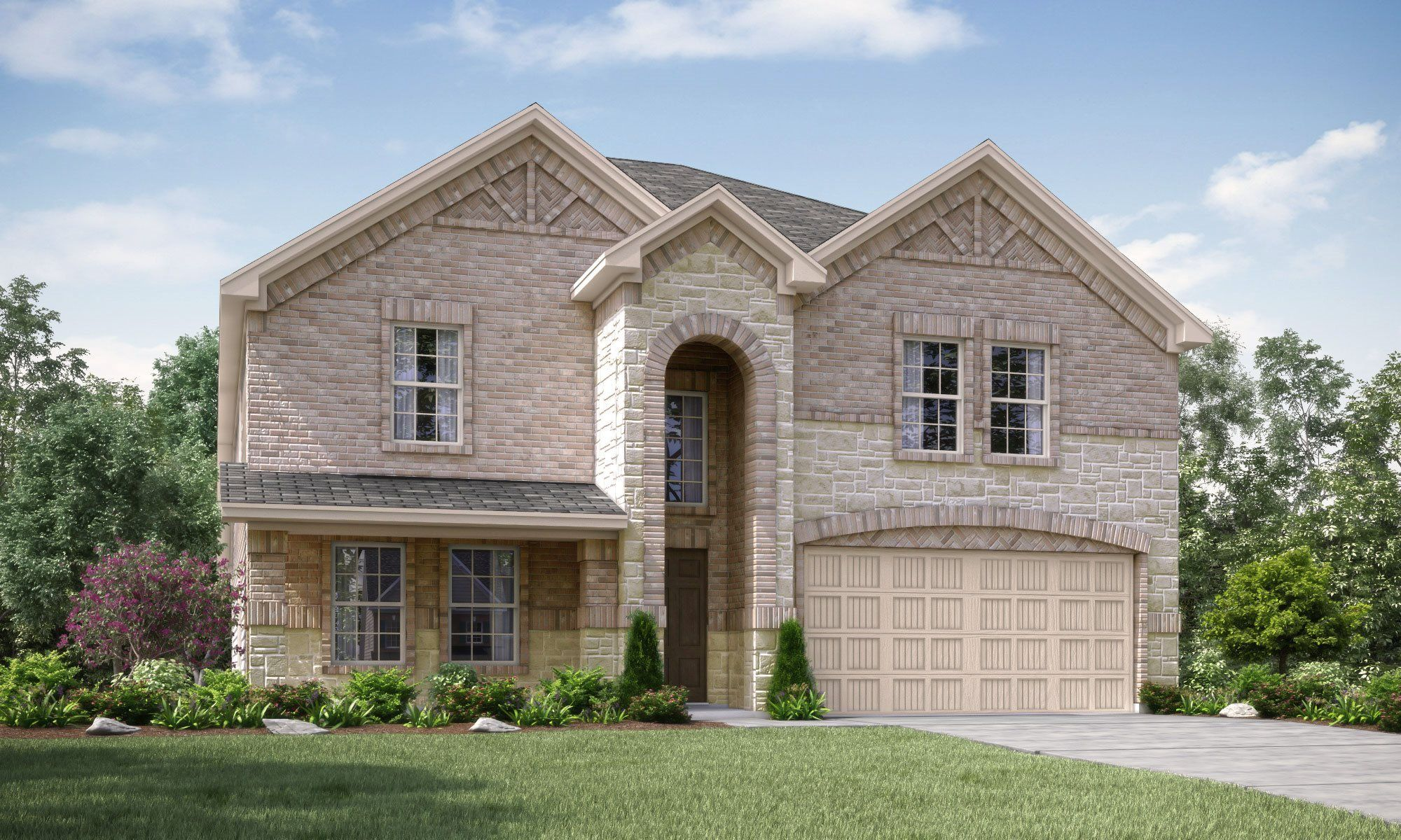 Exterior featured in the Cadence -STANDARD 3 CAR GARAGE By Lennar in Fort Worth, TX