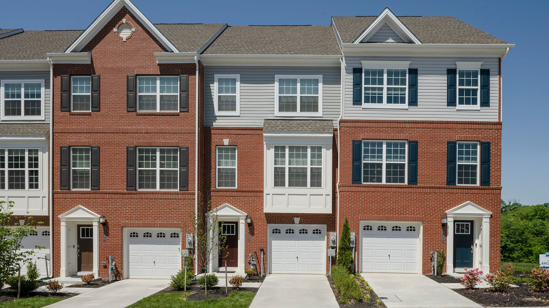 Exterior featured in the Arcadia Front Load Garage By Lennar in Baltimore, MD