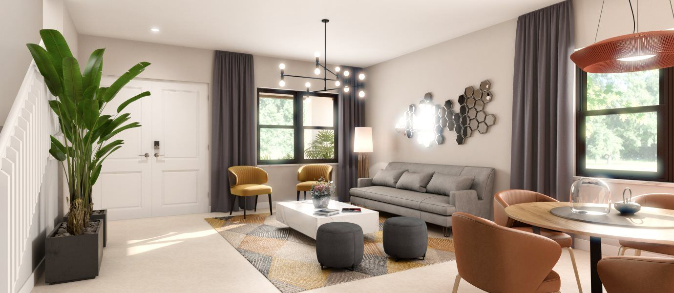 Living Area featured in the Fontana By Lennar in Broward County-Ft. Lauderdale, FL