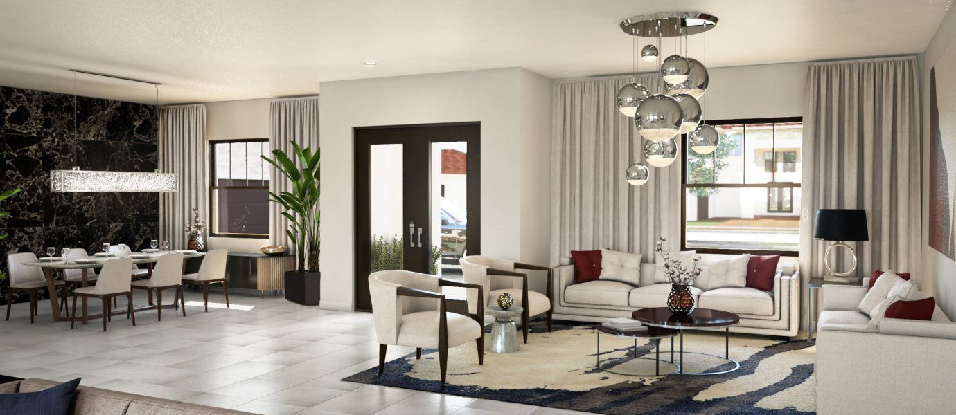 Living Area featured in the Addison By Lennar in Broward County-Ft. Lauderdale, FL