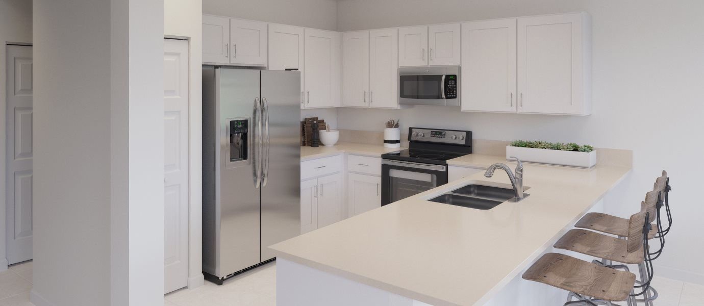 Kitchen featured in the Cannes By Lennar in Miami-Dade County, FL