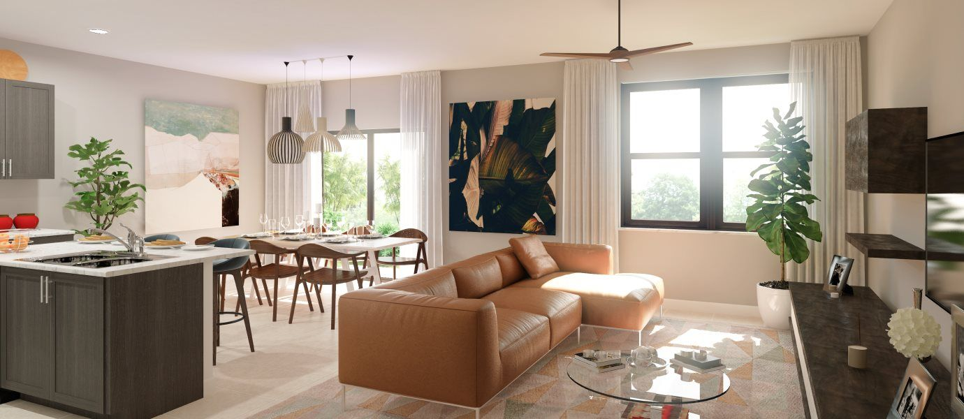 Living Area featured in the Howard By Lennar in Miami-Dade County, FL