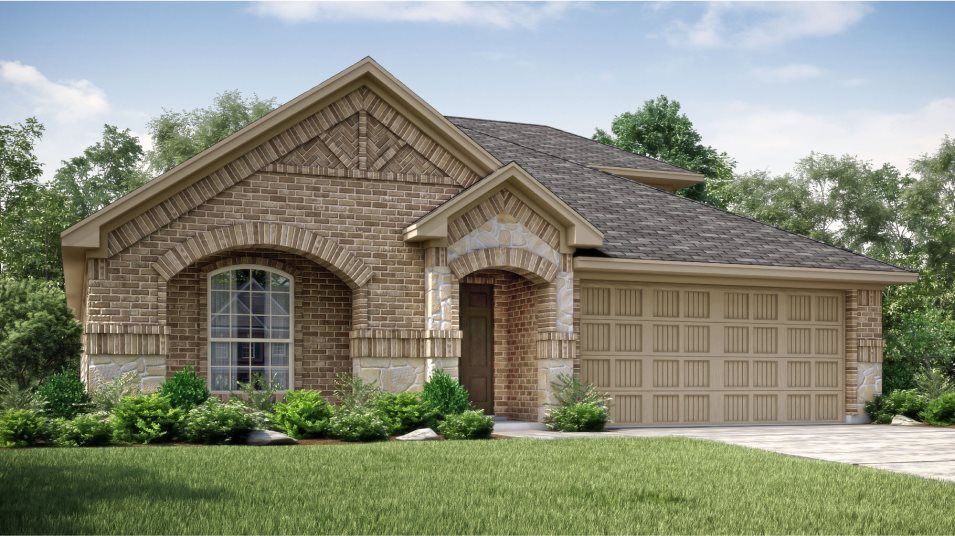 Exterior featured in the Sonata  -Standard 3 Car Garage By Lennar in Fort Worth, TX