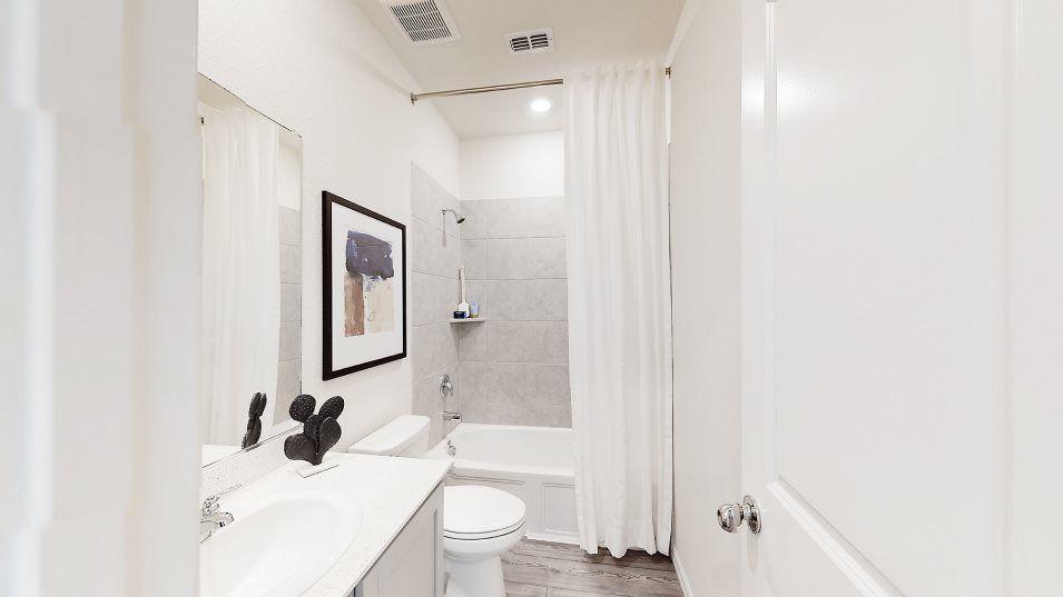 Bathroom featured in the Harmony -Standard 3 Car Garage By Lennar in Fort Worth, TX