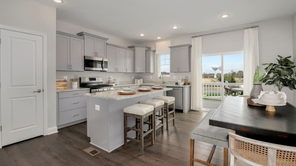 Kitchen featured in the Baylor Front Load Garage By Lennar in Sussex, DE