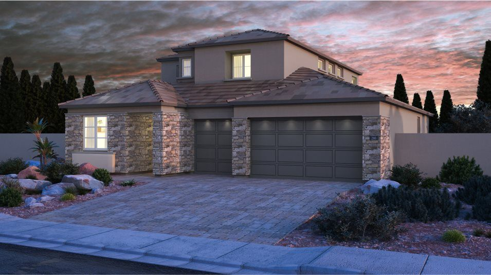 Exterior featured in the Aspen By Lennar in Las Vegas, NV