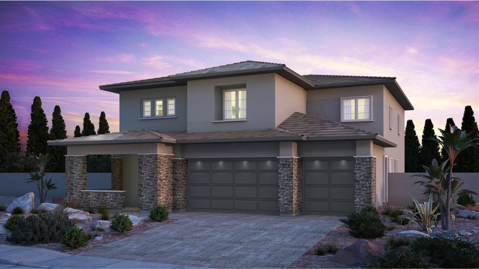 Exterior featured in the Mahogany By Lennar in Las Vegas, NV