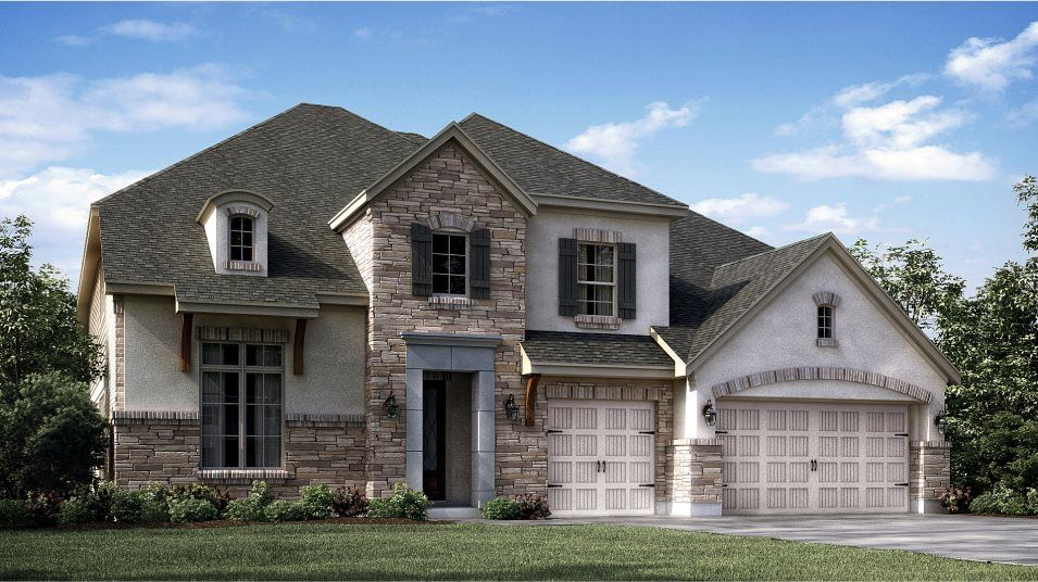 Exterior featured in the New Haven II By Village Builders in Houston, TX