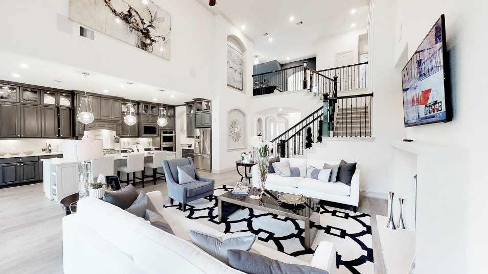 Living Area featured in the Ridgefield II By Village Builders in Houston, TX