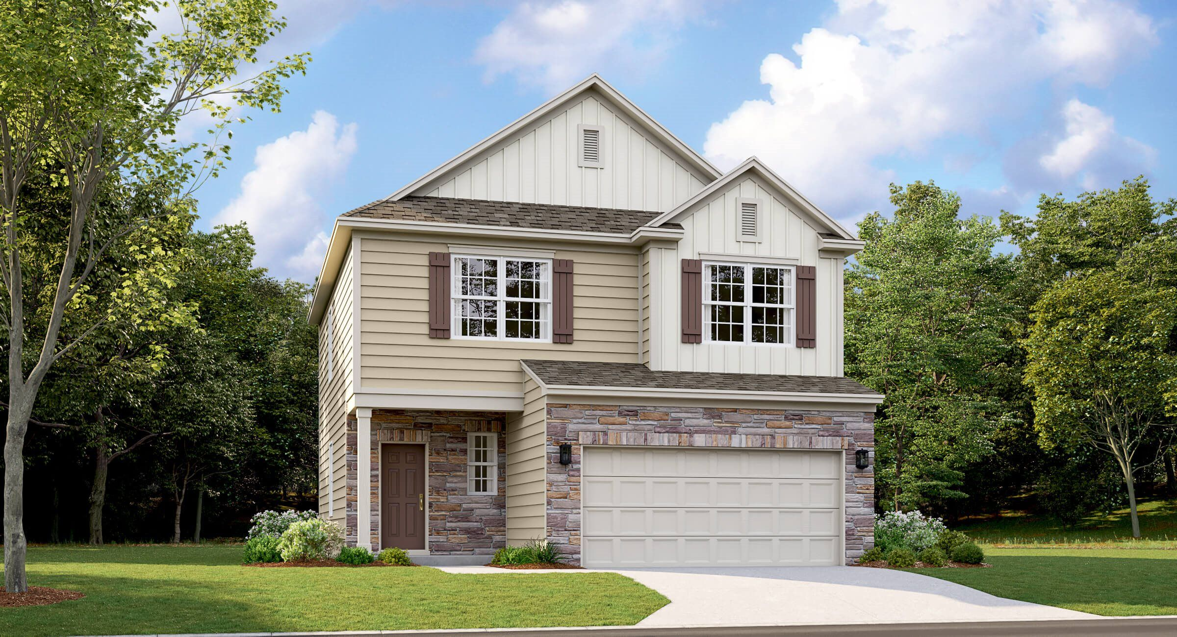 Exterior featured in the Crestwind By Lennar in Greenville-Spartanburg, SC