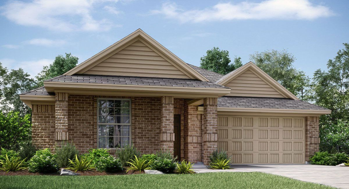 Exterior featured in the Mozart  -Standard 3 Car Garage By Lennar in Fort Worth, TX