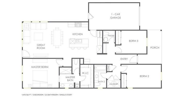Plan 1XR:Floor Plan