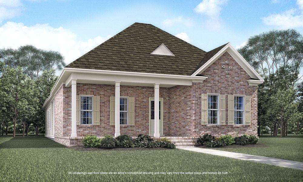 Georgia d e home plan by americana development llc in for Home plans georgia