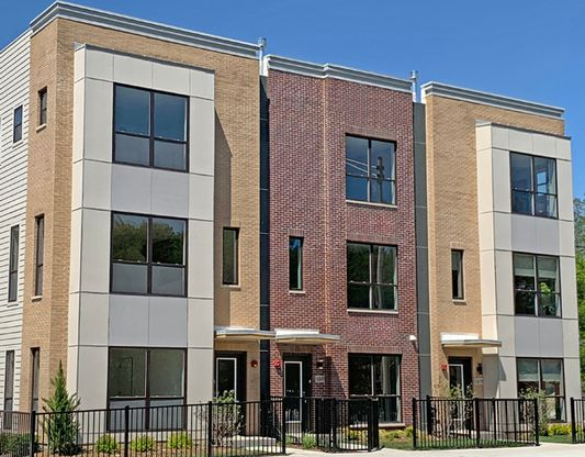 Exterior:Elevation: Townhomes