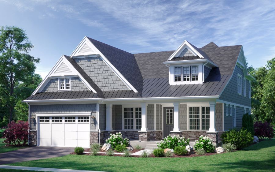 Exterior featured in The Sonoma By Lexington Homes in Chicago, IL