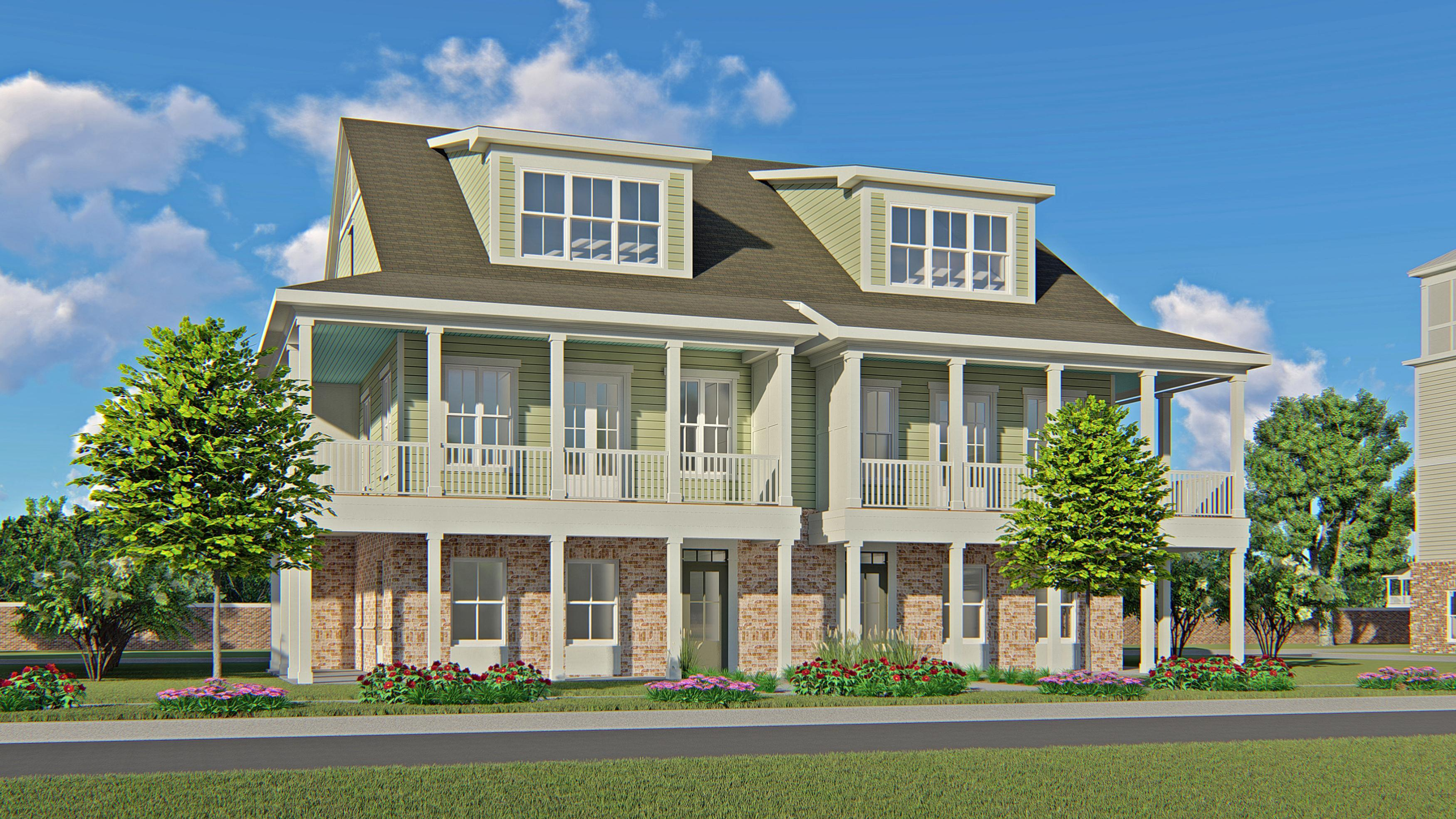 Exterior featured in the Three Story Wraparound Porch Townhome By CRG Companies in Myrtle Beach, SC