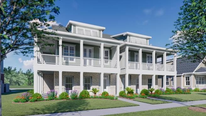 Townhouse 2-Story Wraparound Porch