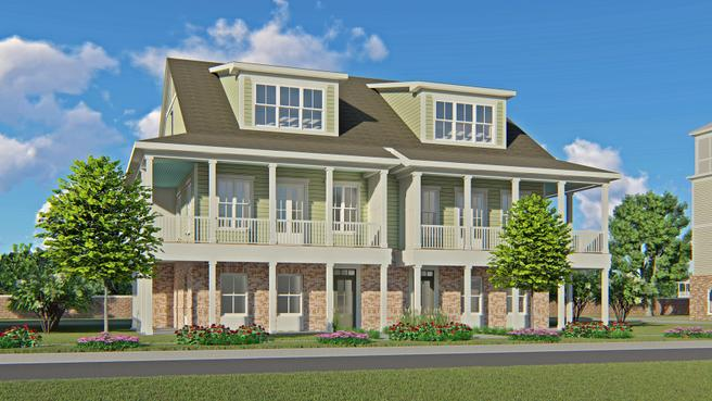 Three Story Front Porch Townhome