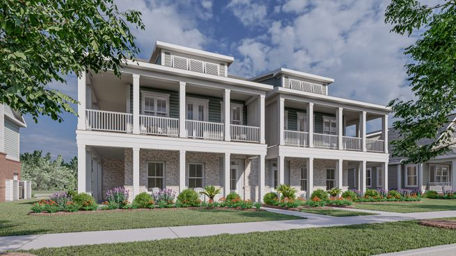 Two Story Wraparound Porch Townhome
