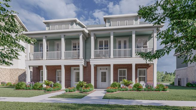 Two Story Front Porch Townhome