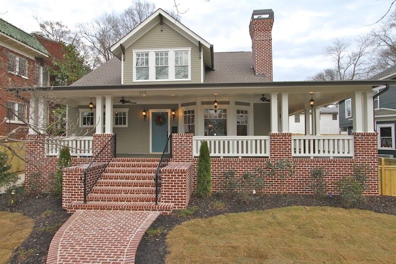 Exterior featured in the Plan 215 N By Lockman Home Building in Atlanta, GA