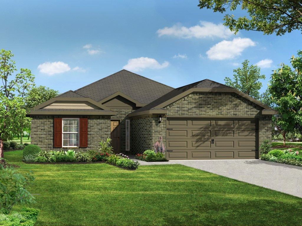 Cascade home plan by riverside homebuilders in vintage square for Cascade house