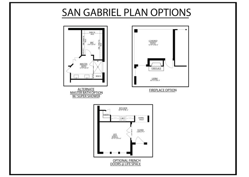 San Gabriel Plan Options