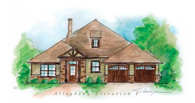 Exterior featured in the Allegheny - Woodland Creek By Lowder New Homes in Montgomery, AL