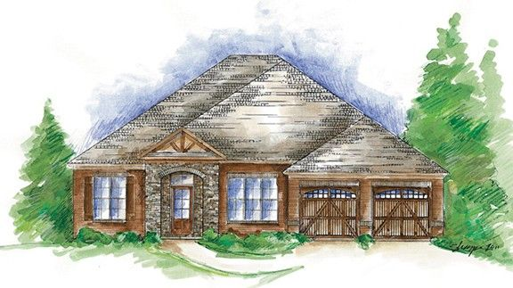Exterior featured in the Coronado - Woodland Creek By Lowder New Homes in Montgomery, AL