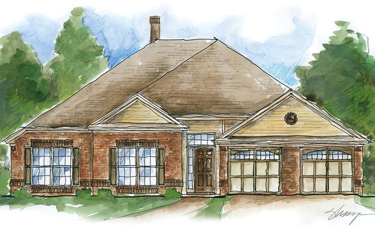 Exterior featured in the Roosevelt - Woodland Creek By Lowder New Homes in Montgomery, AL