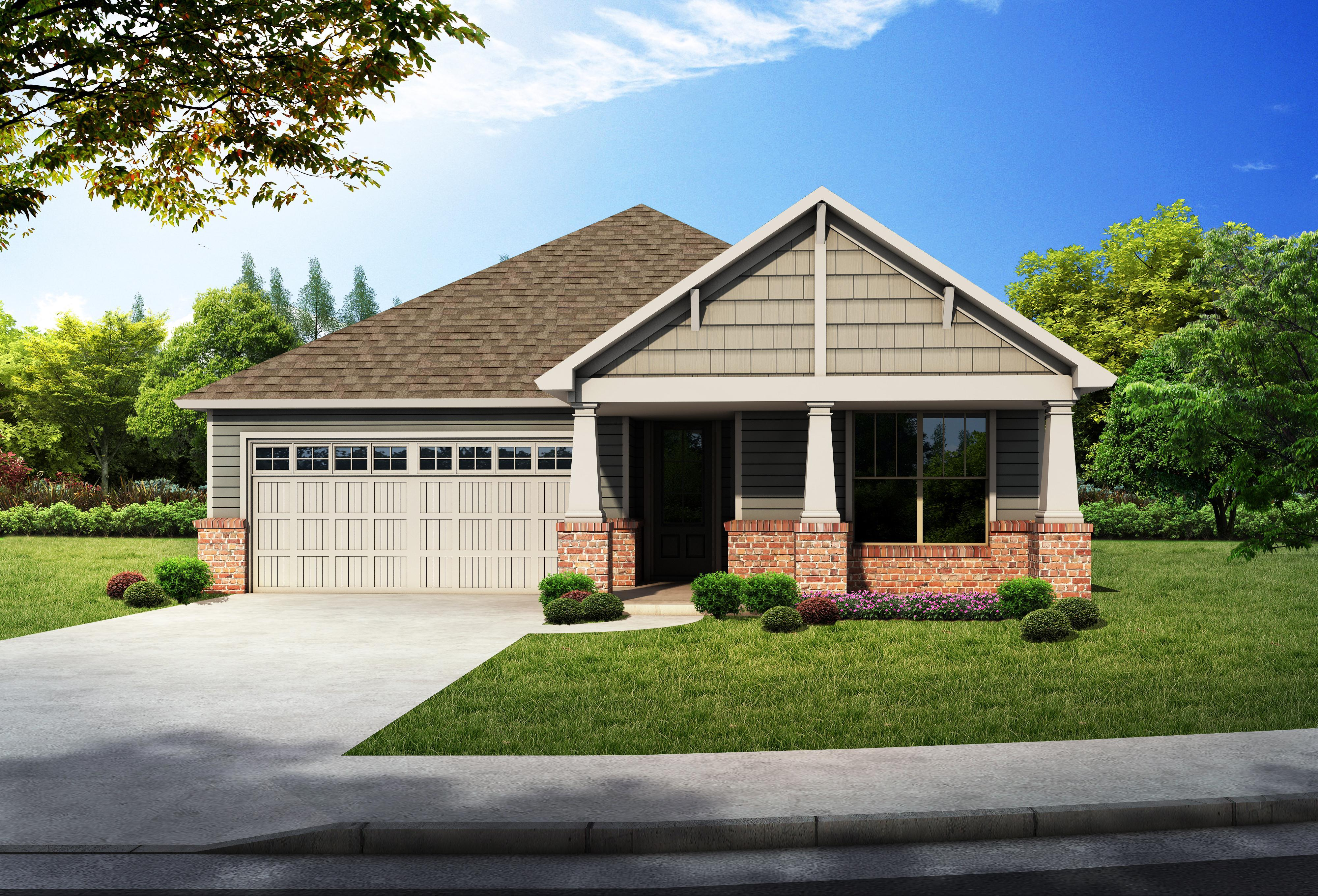 Exterior featured in the Kennesaw Woodland Creek By Lowder New Homes in Montgomery, AL