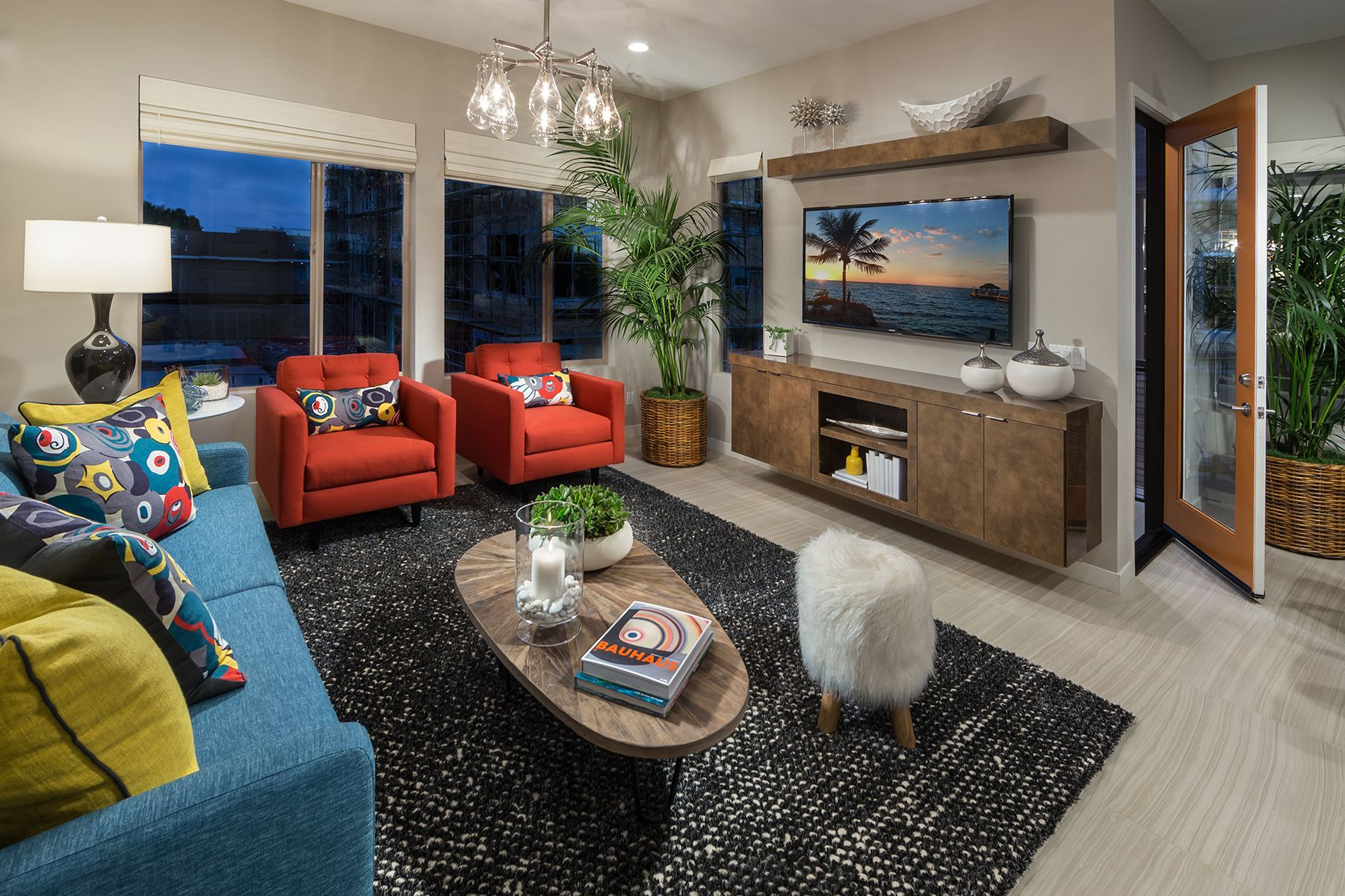 Living Area featured in the Residence 2 Lido By MBK Homes in Orange County, CA