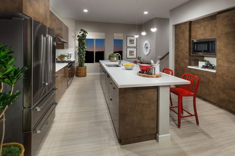 Kitchen-in-Residence 2 Lido-at-Ebb Tide by MBK Homes-in-Newport Beach