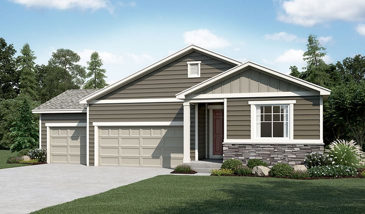 Onyx-R902-PaintBrushHills Elevation A (3-car):The Onyx - Elevation A