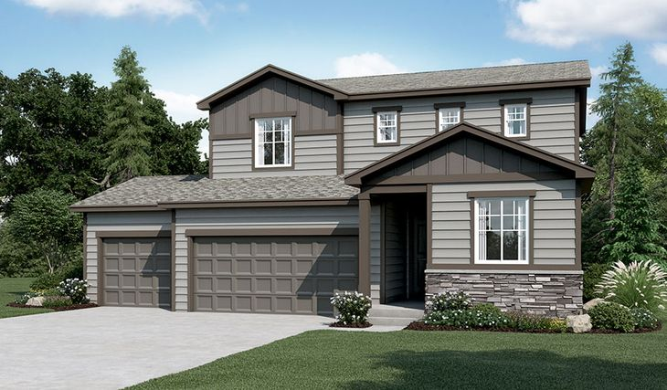 Citrine-R904-PaintBrushHills Elevation A (3-car):The Citrine - Elevation A
