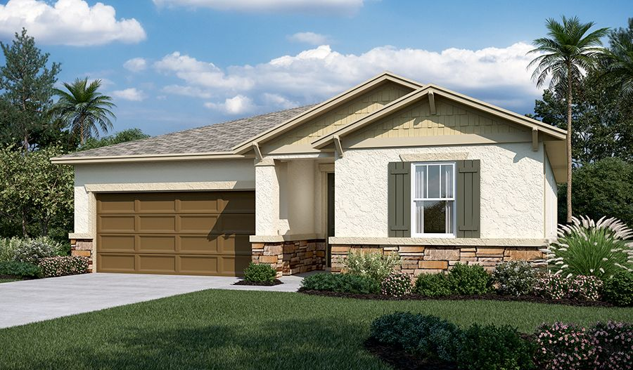 Exterior featured in the Amethyst By Richmond American Homes in Lakeland-Winter Haven, FL