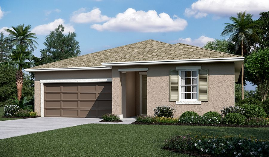 Exterior featured in the Onyx By Richmond American Homes in Lakeland-Winter Haven, FL