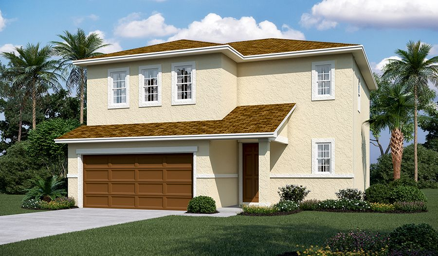 Exterior featured in the Coral By Richmond American Homes in Lakeland-Winter Haven, FL